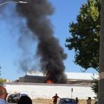 Sofocado un incendio en la fábrica de embutidos Villaseñor
