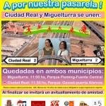 Ciudad Real y Miguelturra, unidas por bicicletas y patines