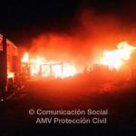 Ciudad Real: Herido un bombero en las labores de extinción de un incendio en la carretera de Toledo