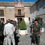 Aldea del Rey: El batallón de la brigada acorazada Guadarrama XII visita el Palacio de Clavería y el Castillo de Calatrava