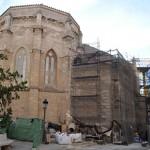 El Convento de las Carmelitas y San Pedro, con el tejado en obras