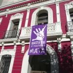Puertollano grita «¡basta ya!» a la violencia de género con teatro y concentración institucional