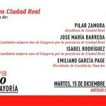 Pilar Zamora y Emiliano García-Page darán su apoyo a los candidatos socialistas en un acto en Ciudad Real