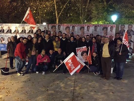 Militantes y candidatos del PSOE