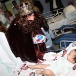 Puertollano: Triana, la única niña ingresada en Pediatría, recibe la mejor de las visitas