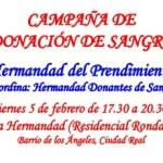 Donación de sangre en la Casa Hermandad del Prendimiento