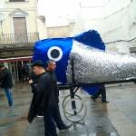 Don Sardino se pasea por las calles de Ciudad Real antes de dar el último adiós a su esposa