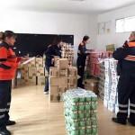 Argamasilla de Calatrava: Protección Civil reparte dos toneladas de «alimentos solidarios» entre 35 familias
