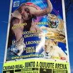 Identificada una persona por romper carteles del circo