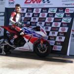 Puertollano: El joven Quique López ya entrena con su nueva moto para conquistar la Copa Honda