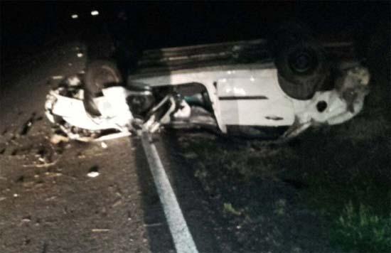 Estado en que quedó el vehículo. Foto: redes sociales