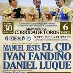 Toros en Puertollano: Niños gratis hasta 14 años para ver a El Cid, Iván Fandiño y Daniel Luque