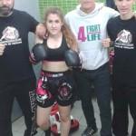 Roberto Ortiz y Natalia Vicario, en la selección regional en el Campeonato de España de kick boxing