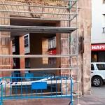El andamiaje instalado en la calle Lanza se retirará en una semana