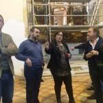 Olmedo visita las obras de restauración en la Ermita de la Columna de Bolaños con cargo al Plan de Empleo de la Junta