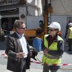 Ciudad Real: «Arcillas húmedas pero en buena disposición», primeras impresiones a pie de sondeo en la Plaza Cervantes