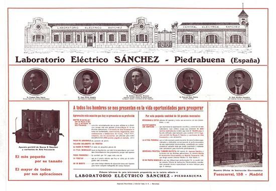 Anuncio del Laboratorio Eléctrico Sánchez(Familia Sánchez)