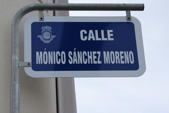 Cartela de la Calle de Mónico Sánchez Moreno, en Ciudad Real
