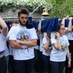 Emotiva jornada salesiana: María Auxiliadora y San Juan Bosco recorren a hombros las calles de Puertollano