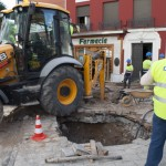 Restablecido el suministro de agua en el centro de Ciudad Real tras la rotura de dos tuberías