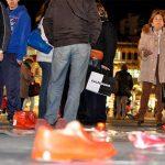 Los zapatos rojos de Feminismos Ciudad Real se expondrán en el Encuentro Joven