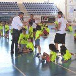 El alcalde de Valdepeñas clausuró el primer turno del Campus Polideportivo Municipal