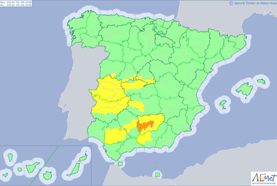 La comarca de puertollano estar en aviso amarillo el 2 y - El tiempo en puertollano por horas ...