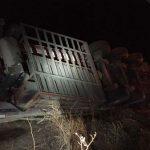 Fallece el conductor de un camión tras salirse de la vía en Puebla de Don Rodrigo