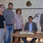 Caballero se interesa por las inversiones de la Diputación en Argamasilla de Alba