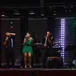 La 'Orquesta Virginia' cierra el ciclo de bailes populares en la carpa del Recinto Ferial