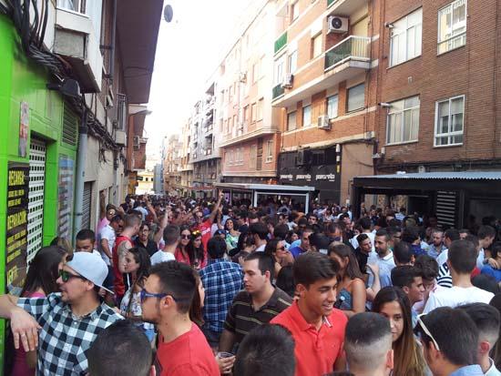 """""""Feria de día"""" de septiembre celebrada en la calle Numancia en 2016."""