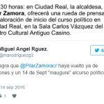 Miguel Ángel Rodríguez se mofa de que la alcaldesa «inaugure» el curso político el 14 de septiembre