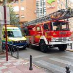 Bomberos en la calle Alarcos