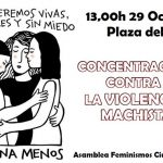 Feminismos convoca una nueva concentración contra la violencia machista