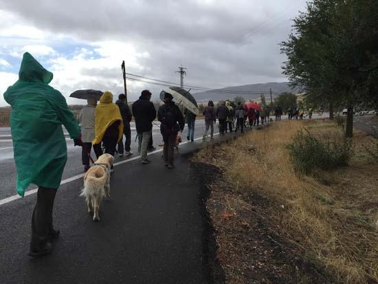 Miembros de la Plataforma Medioambiental durante una marcha reivindicativa (archivo)