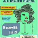 Villarrubia de los Ojos organiza una ruta enológica el 18 de octubre con visita guiada y cata en El Progreso con motivo del Día Mundial de la Mujer Rural