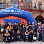 El Gobierno regionalentrega tiendas de campaña y material de emergencia a las Agrupaciones de Protección Civil del Campo de Montiel