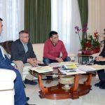 Caballero repasa con el alcalde de Almagro las inversiones de la Diputación en el municipio