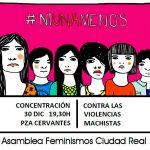 Comunicado: Concentración esta tarde contra la violencia machista