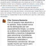 """""""Estupor"""" en el PP por un comentario en Facebook de Zamora en el que afirma que Ciudad Real """"nunca se ha caracterizado por ser limpia"""""""