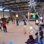 Numerosos niños de Villamayor disfrutan del nuevo parque de ocio Villarama