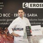 Jesús Villarejo, de la Escuela de Cocina Natural Chef Ciudad Real, ganador del Premio BCC Eroski Saria