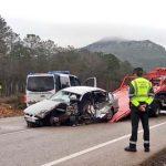Un fallecido y un herido tras la colisión entre un turismo y un camión en Fuencaliente