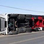 Puertollano: Vuelca un camión en la N-420