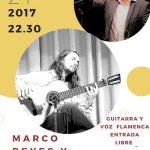 Puertollano: Noche flamenca en pub Luna con el concierto de Marco Reyes y Pedro Lomas este 21 de enero