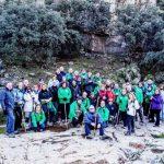 Puertollano: El Club Pozo Norte recorrió el río Cereceda en el entorno de Fuencaliente