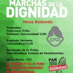 Mesa redonda sobre pensiones organizada por las Marchas de la Dignidad