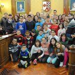 Recepción a alumnos de Belfast de intercambio con el colegio público Lucero