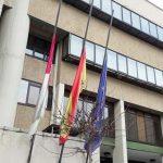 Puertollano: Banderas a media asta en el Ayuntamiento en memoria de Sergio Roque Buitrago