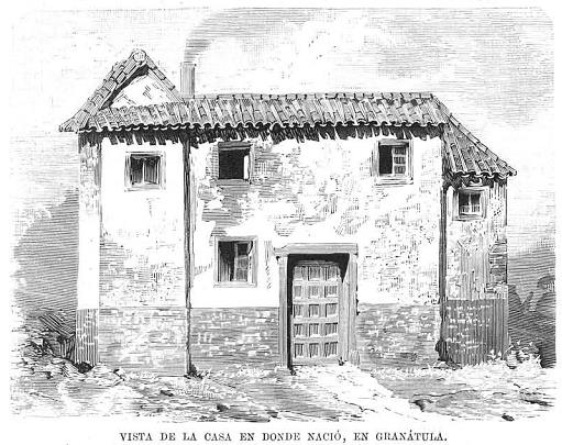 Casa natal de Baldomero Espartero. Grabado en La Ilustración Española y Americana (1879)